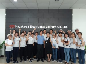 """Joshin tiến hành đào tạo về """"Giao tiếp logic & Horensou"""" tại Hayakawa"""