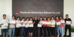 """Joshin đã thực hiện đào tạo khóa học """"Quản lý chất lượng tổng thể TQM"""" cho Công ty TNHH Điện tử Hayakawa Việt Nam"""