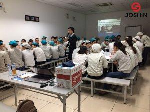 """Khóa học """"Kỹ năng quản lý dành cho quản lý cấp trung"""" được Joshin triển khai đào tạo tại Công ty TNHH Hayakawa Electronics Việt Nam - công ty có 100% vốn từ Nhật Bản"""